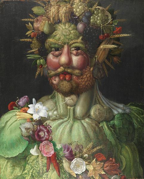 ジュゼッペ・アルチンボルド ウェルトゥムヌスに扮するルドルフ2世