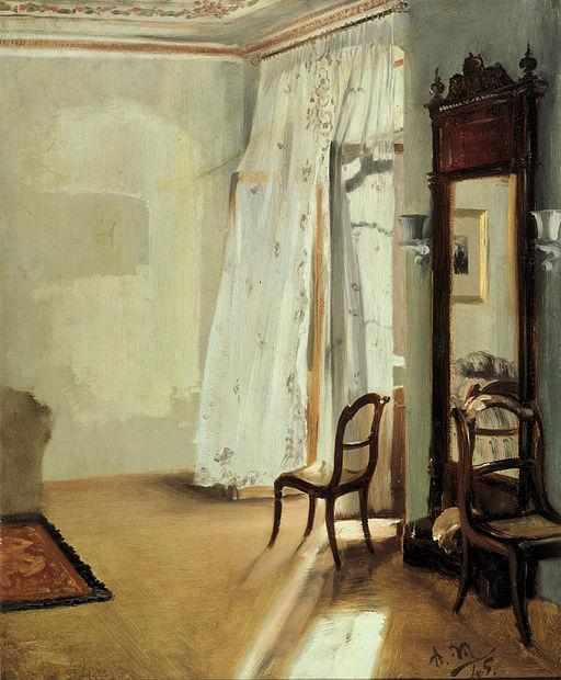アドルフ・メンツェル バルコニーの部屋