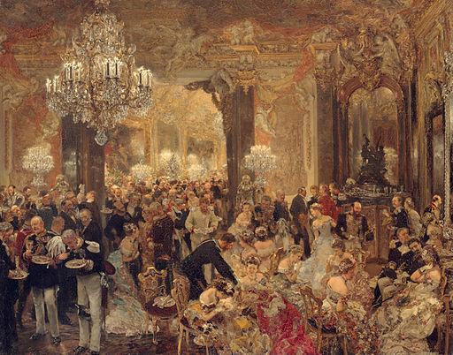 アドルフ・メンツェル 舞踏会の晩餐