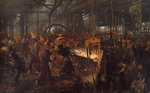 アドルフ・メンツェル 鉄圧延機工場