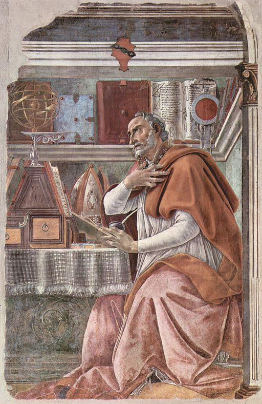 サンドロ・ボッティチェリ 書斎の聖アウグスティヌス