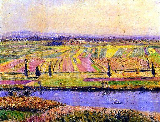 ギュスターヴ・カイユボット ジャンヌヴィリエの草原