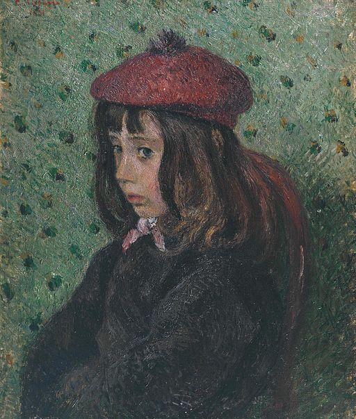 カミーユ・ピサロ Félix Pissarro(息子7歳)の肖像