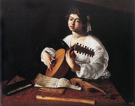ミケランジェロ・メリージ・ダ・カラヴァッジオ リュートを弾く若者