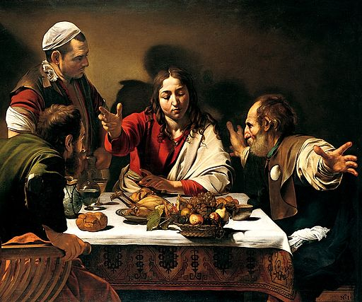 ミケランジェロ・メリージ・ダ・カラヴァッジオ エマオの晩餐