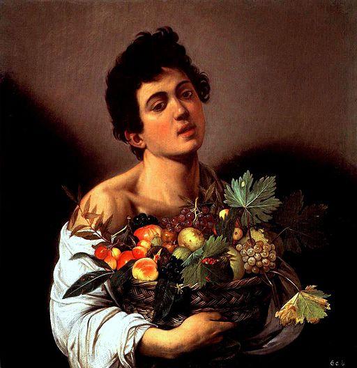 ミケランジェロ・メリージ・ダ・カラヴァッジオ 果物籠を持つ少年