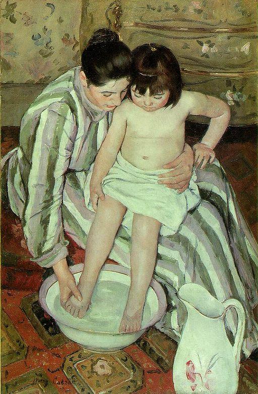 メアリー・カサット 子供の入浴