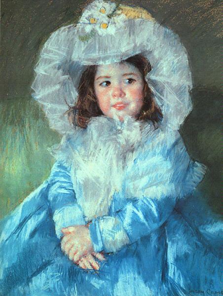 メアリー・カサット 青い服を着たマーゴー