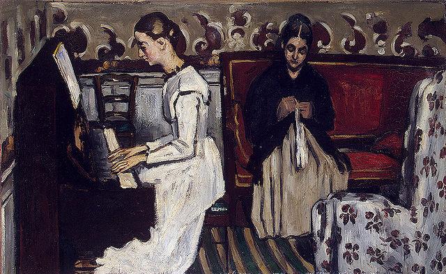 ポール・セザンヌ ピアノを弾く若い娘