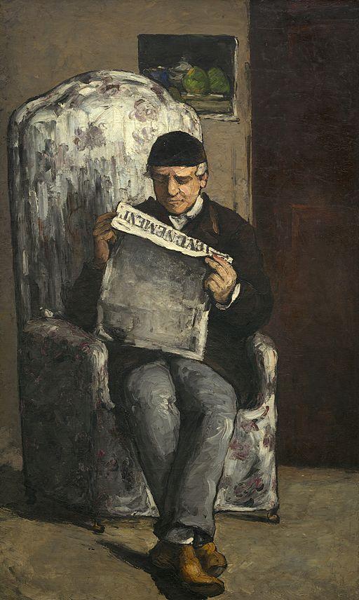 ポール・セザンヌ 「レヴェヌマン」紙を読む画家の父