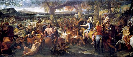 シャルル・ル・ブラン アレクサンドロス大王とポロス王