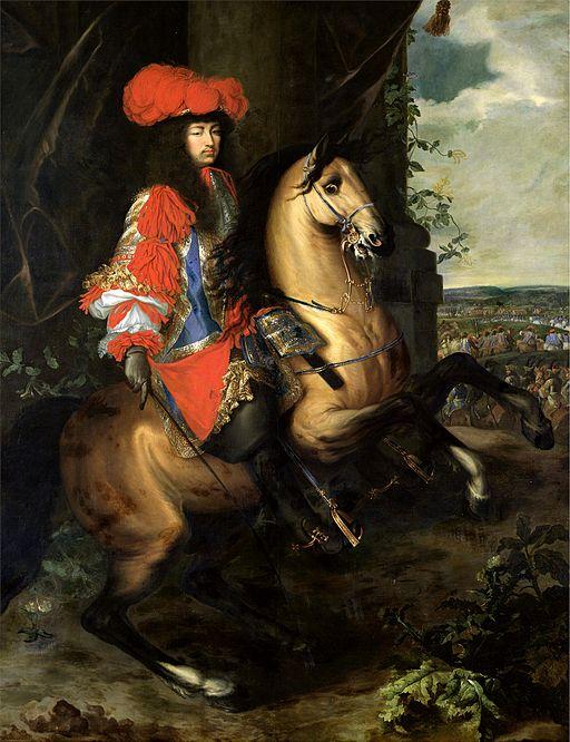 シャルル・ル・ブラン 馬に乗るルイ14世