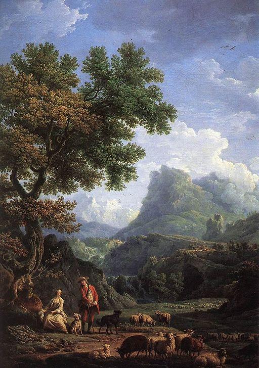 クロード=ジョセフ・ヴェルネ アルプスの羊飼いの娘