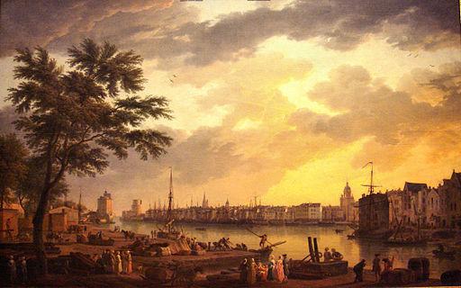 クロード=ジョセフ・ヴェルネ ラ・ロシェル港の眺め