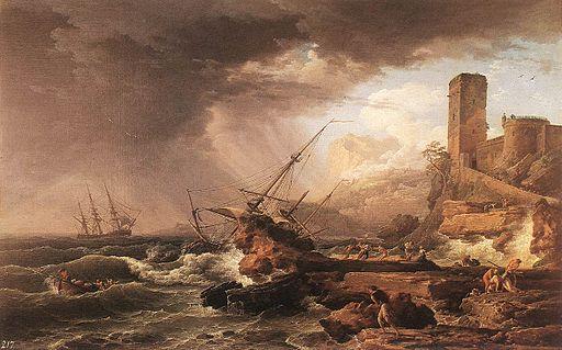 クロード=ジョセフ・ヴェルネ 嵐の難破船