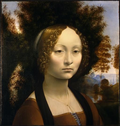 レオナルド・ダ・ヴィンチ ジネーヴラ・デ・ベンチの肖像