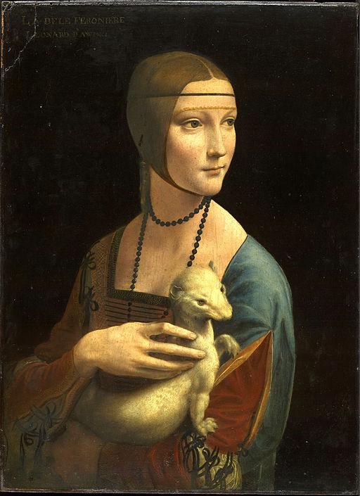 レオナルド・ダ・ヴィンチ 白貂を抱く貴婦人