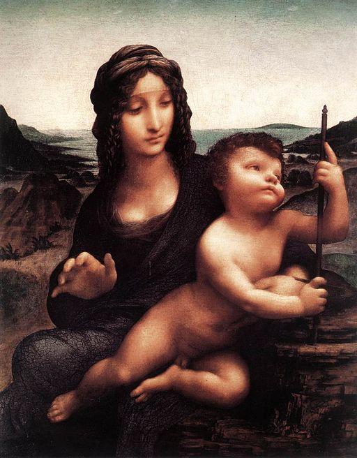 レオナルド・ダ・ヴィンチ 糸車の聖母
