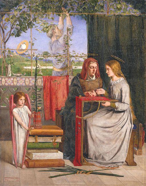 ダンテ・ゲイブリエル・ロセッティ 聖母マリアの少女時代