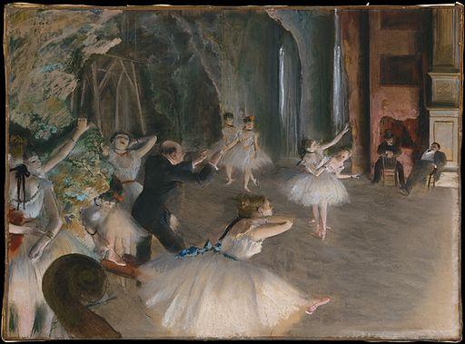エドガー・ドガ 舞台のバレエ稽古