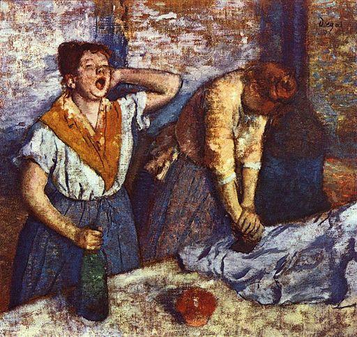 エドガー・ドガ アイロンをかける2人の女