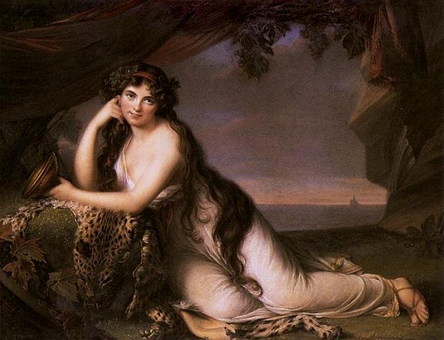エリザベート・ヴィジェ=ルブラン アリアドネーに扮したハミルトン嬢