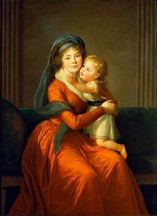 エリザベート・ヴィジェ=ルブラン アレキサンドラ・ゴリシャーナ姫と息子の肖像