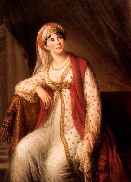 エリザベート・ヴィジェ=ルブラン ザイールに扮する女優 ジュゼッピーナ・グラッシーニ
