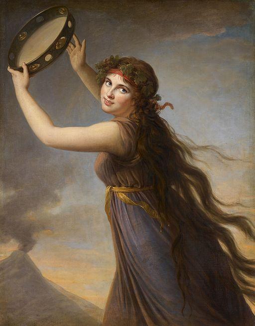 エリザベート・ヴィジェ=ルブラン バッカスの巫女に扮したエマ・ハミルトン