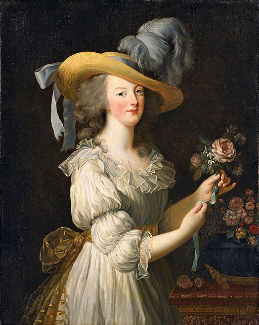 エリザベート・ヴィジェ=ルブラン モスリンのシュミーズ・ドレスを着た王妃マリー・アントワネット