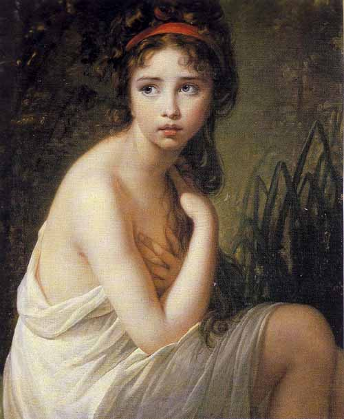 エリザベート・ヴィジェ=ルブラン 水浴びをする女性