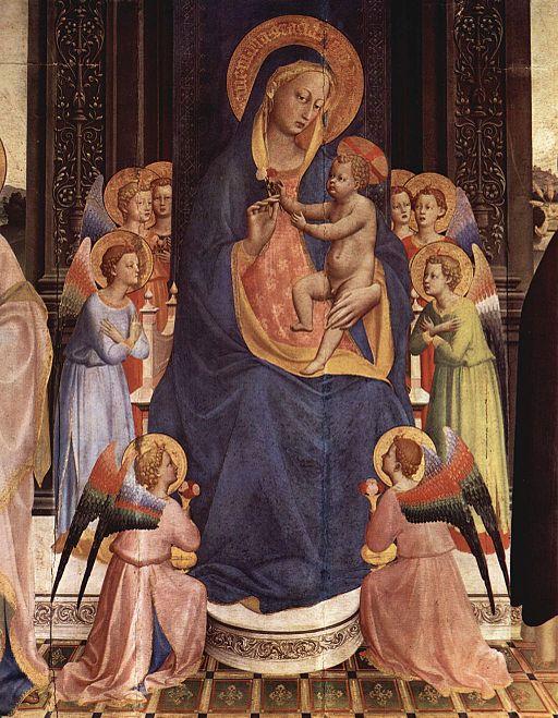 フラ・アンジェリコ 聖者と聖母子