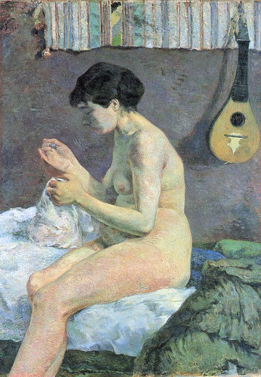 ポール・ゴーギャン 縫い物をする女
