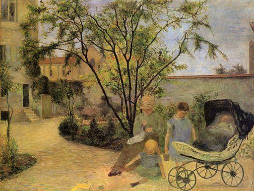 ポール・ゴーギャン ヴォージラールの庭