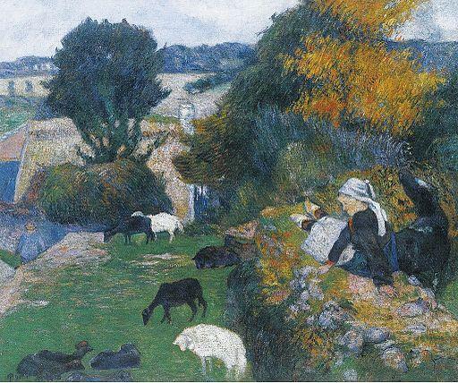 ポール・ゴーギャン ブルターニュの羊飼い