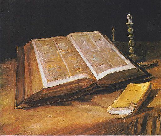 フィンセント・ファン・ゴッホ 開かれた聖書の静物画