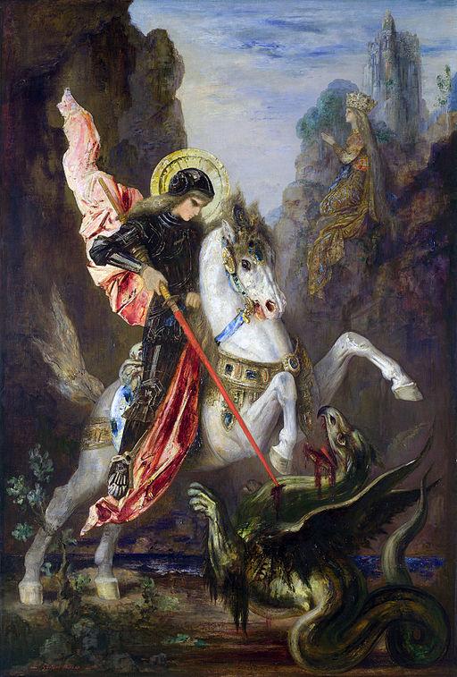 ギュスターヴ・モロー 聖ゲオルギオスとドラゴン