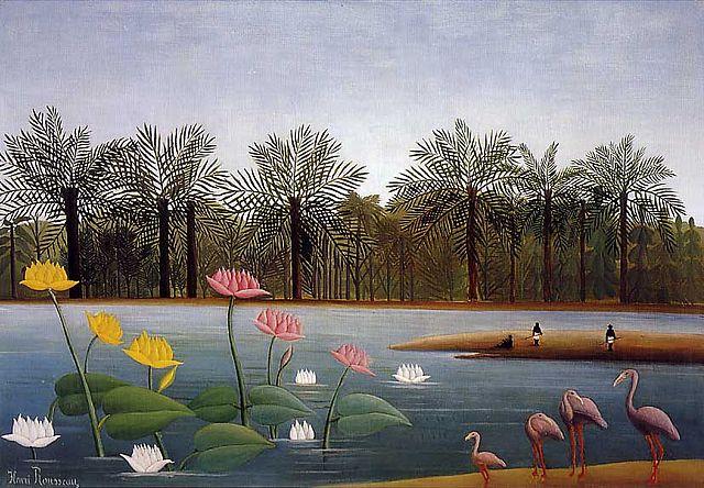 アンリ・ルソー The Flamingoes