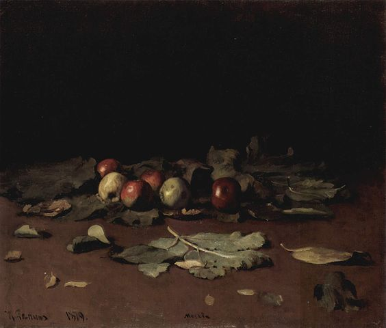 イリヤ・レーピン リンゴと木の葉