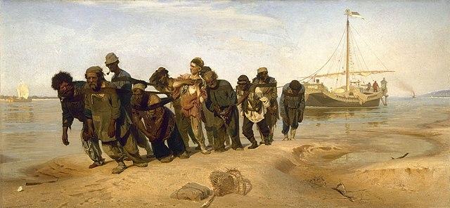 イリヤ・レーピン ヴォルガの舟曳き