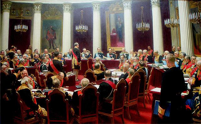 イリヤ・レーピン 帝国枢密院設立100周年記念の儀礼