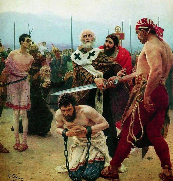 イリヤ・レーピン ミラの聖ニコライ、無実の三人を死刑から救う