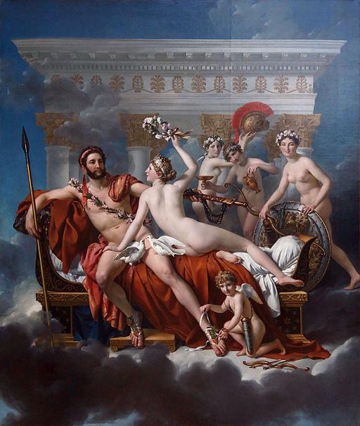 ジャック=ルイ・ダヴィッド ヴィーナスと三美神に武器を取り上げられるマルス