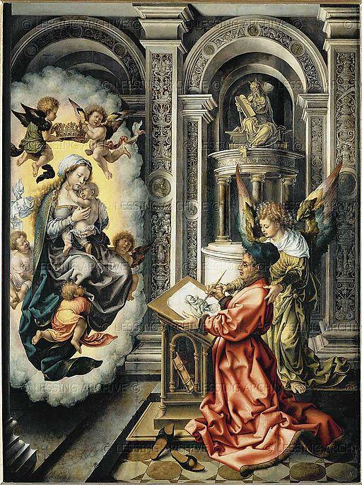ヤン・ホッサールト 聖母子を描く聖ルカ
