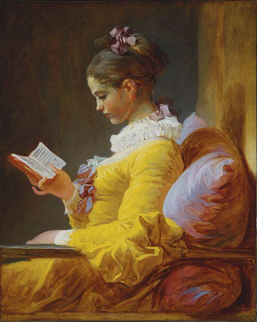 ジャン・オノレ・フラゴナール 読書する娘