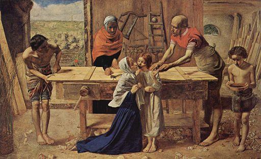 ジョン・エヴァレット・ミレイ 両親の家のキリスト