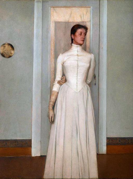フェルナン・クノップフ Portrait of Marguerite Khnopff