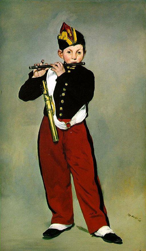 エドゥアール・マネ 笛を吹く少年