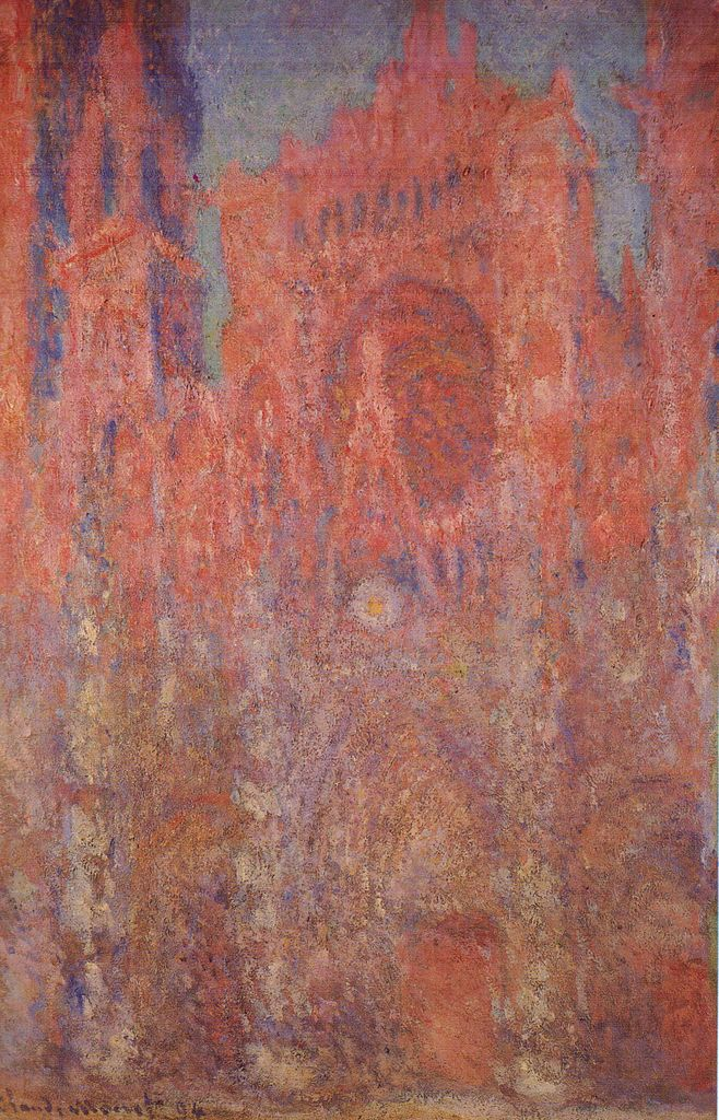 クロード・モネ ルーアン大聖堂、夕暮れ