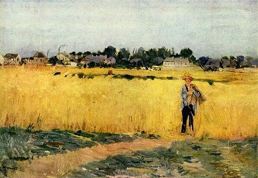 ベルト・モリゾ 穀物畑
